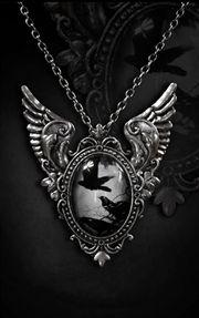 Edgar Allen Poe inspired necklace