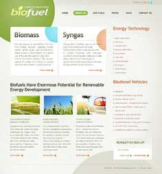 Bio Fuels Website Templates by Oldman