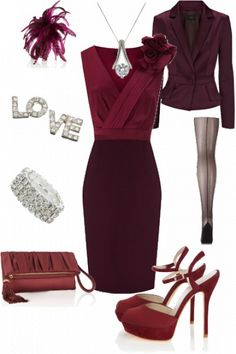 Gorgeous berry outfit #cranberry