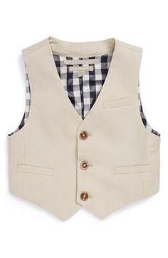 Nordstrom 'Alton' Linen Blend Vest (Toddler Boys) available at #Nordstrom