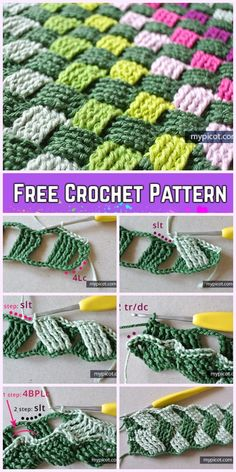 Most up-to-date Photo basket weave Crochet Blanket Concepts Crochet Basket Weave Stitch kostenlose Häkelanleitung, Crochet Stitches Free, Tunisian Crochet, Afghan Crochet Patterns, Free Crochet, Stitch Patterns, Knitting Patterns, Weaving Patterns, Crochet Shell Stitch, Crochet Afgans