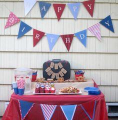 Train themed birthday party. #birthday #party