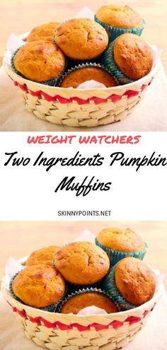 Breakfast Crockpot Recipes, Healthy Muffin Recipes, Banana Bread Recipes, Ww Recipes, Healthy Muffins, Healthy Food, Healthy Eating, Weight Watchers Cake, Weight Watchers Pumpkin