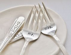 vintage wedding cake forks