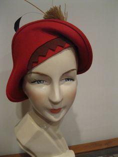 Original Deco style hat by Deco Echo.
