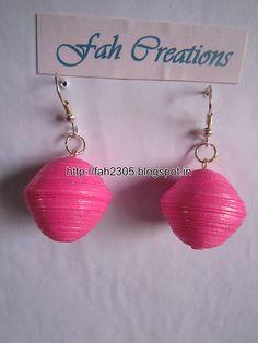 Handmade Jewelry - Paper Quilling Globe Earrings (4)