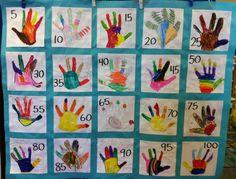 100 days of school quilt.  What a cute idea!  www.AGiftToTreasure.om