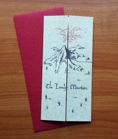 Invitations based from The Hobbit and Lord of The Rings