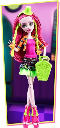 Marisol Coxi. Aww, what happened to her deep mauve color? I'm not a big fan of the pink dolls.... Maybe i'll be able to make an exception. Her face is SO cute! :3