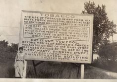Sign posted by Wilbur Voliva, Zion's 2nd overseer (following Dowie)  zion, il history - Google Search