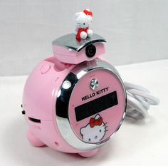 Projection Clock Pink Hello Kitty Digital Alarm AM FM Radio Girls Ball 2401WH01 #Sanrio #HelloKitty Girls Room Decor Click Picture To Purchase Item For Sale On Ebay