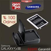 Samsung i9300 Galaxy S3 Orjinal Batarya Şarj Aleti + Pil Batarya - EB-H1G6LLUGSTD