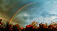 Early morning rainbows and autumn leaves .... (Explore)