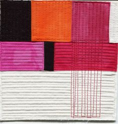 one section of contrasting quilting __  © Heather Hingst Bennett