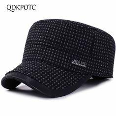 59cc6baa QDKPOTC 2018 Autumn Winter Baseball Caps Men Outdoor Cotton Hat Snapback Hats  Thickened Ear Flaps For