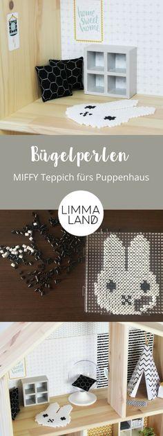 Für Bügelperlen gibt es immer mehr Vorlagen und auch stylische Ideen. Wir haben Bügelperlen genutzt, um Teppiche fürs Puppenhaus zu basteln. Die MIFFY Bügelperlen Vorlage, die sich nicht nur im Puppenhaus gut macht, findet ihr auf unserem Blog.