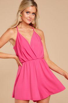 3b3d9196815e Chic Magenta Pink Romper - Trendy Romper - Romper -  38.00 – Red Dress  Boutique Gorgeous