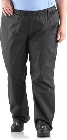 Columbia Women's Storm Surge Rain Pants Plus Sizes Black 1X