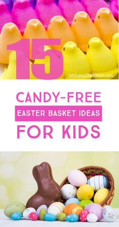 Loving these ideas for putting LESS candy in our Easter eggs this year *Practical Easter Basket Ideas for Kids