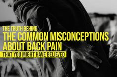 The truth behind the common misconceptions about back pain that you might have believed. #chiropractorsingapore #cheapchiropractorsingapore #chiropracticsingapore #chiropractor #familychirosg