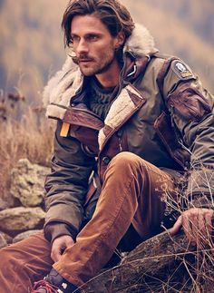 Rugged sexy. End of story.  This guy screams to be written about. Someday I…