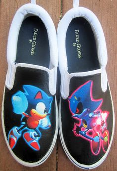 70e5192759564e Custom Sonic VS Metal Sonic Shoes.  50.00