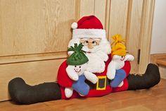 Cubrepolvos de papá Noel: elaboralo para esta Navidad Christmas Clay, Christmas Sewing, Christmas Crafts, Christmas Decorations, Christmas Ornaments, Holiday Decor, Christmas Stuff, Ravivarma Paintings, Diy Craft Projects