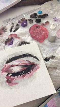 15 Ideas Eye Painting Beautiful For 2019 Kunst Inspo, Art Inspo, Art Sketches, Art Drawings, Arte Sketchbook, Sketchbook Ideas, Guache, Art Plastique, Love Art