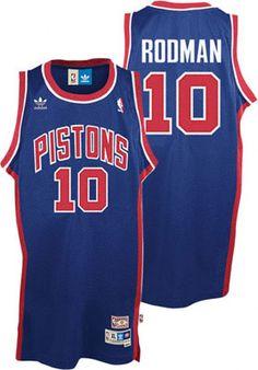 23b567731ba Buy authentic Detroit Pistons team merchandise. Pistons  BasketballBasketball JerseyBasketball UniformsDennis Rodman ...