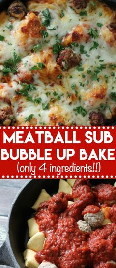 Meatball Sub Bubble Up Bake is everyone's favorite recipe because it is easy, a real crowd pleaser and only 4 ingredients! Meatball Sub Bubble Up Bake is everyone's favorite recipe because it is easy, a real crowd pleaser and only 4 ingredients! Easy Casserole Recipes, Easy Dinner Recipes, Easy Meals, Fast Dinners, Weeknight Dinners, Cheap Meals, Freezer Meals, Healthy Recipes, Crockpot Recipes