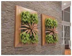 painel com plantas artificiais - Google Search