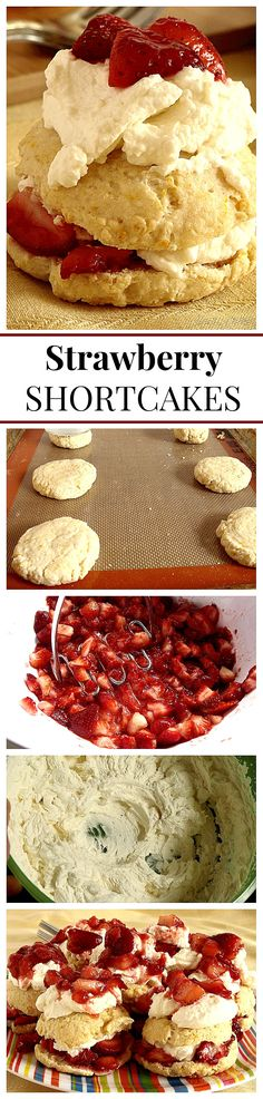 Strawberry Shortcakes - Awesome dessert with crumbly biscuits that are topped and filled with strawberries and whipped cream. They are sooo good!!