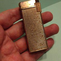Vintage CRISTO ZAIMA Japan LIGHTER - Gold Tone Cigarette SALE