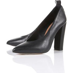 GUS Hi Cut Pointed Court Shoes ($136) via Polyvore