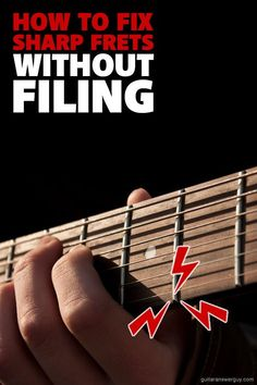 Filing sharp fret ends one option, but here I'll show you a more conservative method you can try first--before you reach for a file. Guitar Tips, Guitar Lessons, Types Of Guitar, Vintage Guitars, Your Music, Best Songs, Filing, Say Hello, Drums