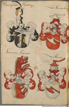 Wappen deutscher Geschlechter Augsburg ?, 4. Viertel 15. Jh. Cod.icon. 311 Folio 34v