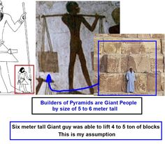 Giants build the pyramids