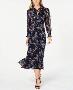 Calvin Klein Floral Chiffon Maxi Dress In Black Multi Next Clothes, Clothes For Women, Dress Outfits, Girl Outfits, Maxi Dresses, Floral Chiffon Maxi Dress, Review Dresses, Calvin Klein, How To Wear
