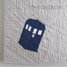 Starry Samhain Night TARDIS by HappierThanABirdQuilts, via Flickr. OMG if I could combine these or do swooshy things like time/space that would be so awesome