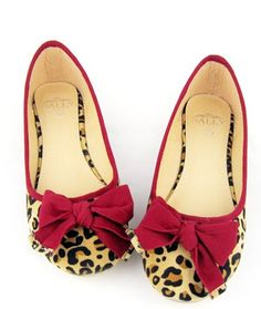 Trendy & Fashionable Bow-tie Low-heeled Shoes----Red