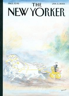 """The New Yorker - Monday, January 5, 2004 - Issue # 4058 - Vol. 79 - N° 41 - Cover """"A Kind of Happiness"""" by """"Sempé"""" - Jean-Jacques Sempé"""