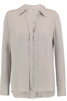 Shop on-sale Vince Silk-crepe shirt. Browse other discount designer Tops & more on The Most Fashionable Fashion Outlet, THE OUTNET.COM