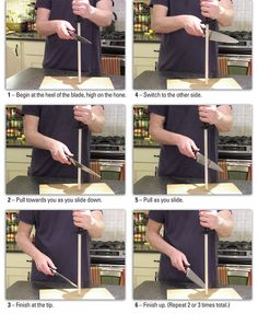 how to hone a knife demo