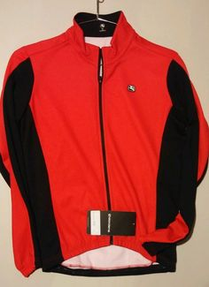 Giordana Fusion Mens Cycling Jersey Long Sleeve Winter Small Red