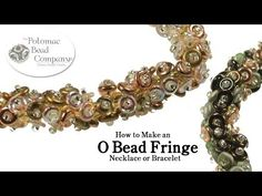 O Bead Fringe Necklace or Bracelet. This video tutorial from The Potomac Bead Company teaches you how to make an easy and beautiful (though potentially time consuming) necklace or bracelet using a fringe stitch with the new Czech glass O beads! O Beads, Beads And Wire, Fringe Necklace, Beaded Necklace, Beaded Bracelets, Jewelry Making Tutorials, Free Tutorials, Video Tutorials, Headpiece Jewelry