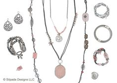 POSITIVELY PINK:  Celebrate your feminine flair with this flirty blend of pink, gray and Sterling Silver.