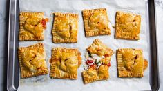 Yummy Fillings Inside Savory Pop Tarts Healthy Recipes Usually, pop-tarts have a sugary filling sealed inside two layers of thin, rectangular pastry crust. Or we can call it hand pies. They are designed to be warmed Cheese Pastry, Summer Tomato, Hand Pies, Cherry Tomatoes, Summer Recipes, Pop Tarts, Baking Recipes, Pastry Recipes, Vegetarian Recipes