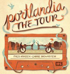 Portlandia the Tour (from Pitchfork, via Typeverything) #portlandia