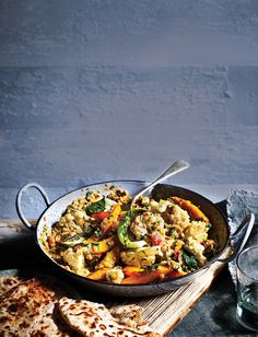 Feed a family of four for under a fiver with this delicious Indian-inspired coconut dhal with roasted veg recipe. This vegan dish is low effort with maximum flavour Quick Healthy Meals, Healthy Eating Recipes, Veg Recipes, Curry Recipes, Indian Food Recipes, Vegetarian Recipes, Healthy Food, African Recipes, Yummy Food