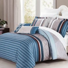 North Home Brooks 4Piece Duvet Cover Set Queen * Check out this great product.